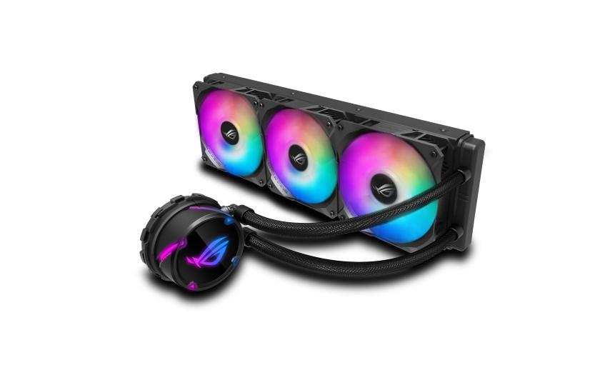 Chladiče ROG Strix LC poskytují výkonné kapalinové chlazení v uzavřené smyčce (AIO), a jsou ideální volbou pro stavitele PC, kteří chtějí maximalizovat výkon procesorů Intel Core nebo AMD Ryzen určených pro přetaktování. Tuto řadu nově rozšiřují modely s adresovatelnými ventilátory RGB pro tepelnou regulaci v barevném stylu, ve velikostech 120, 240 a 360 mm. Ventilátory ROG optimalizují průtok vzduchu a statický vztlak, zlepšují akustiku a nabízejí funkce adresovatelného RGB osvětlení. Chladiče ROG Strix LC RGB mají také plnou podporu technologie Aura Sync, která umožňuje bezproblémovou integraci s existujícími nastaveními a světelnými efekty.