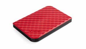 Stylový externí pevný disk ve vánočním červeném designu