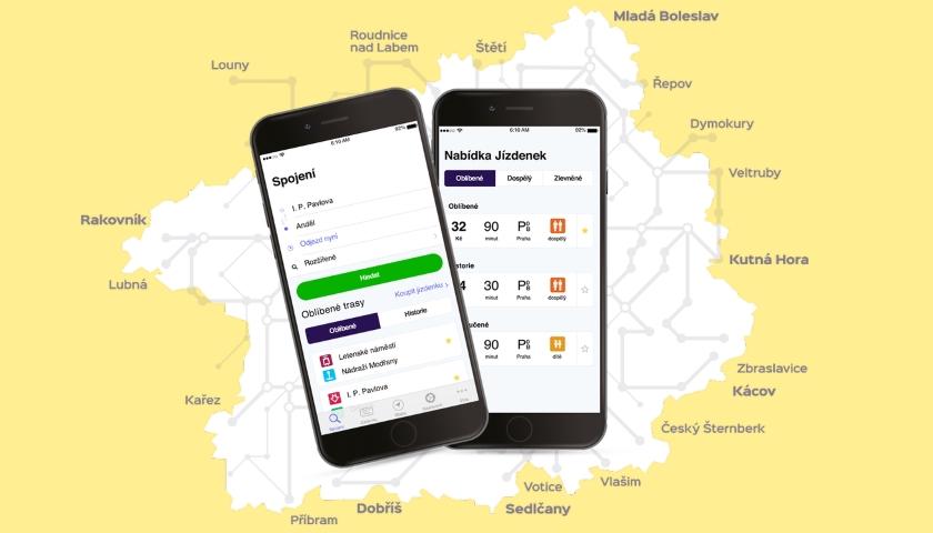 mobilní aplikace PID Lítačka