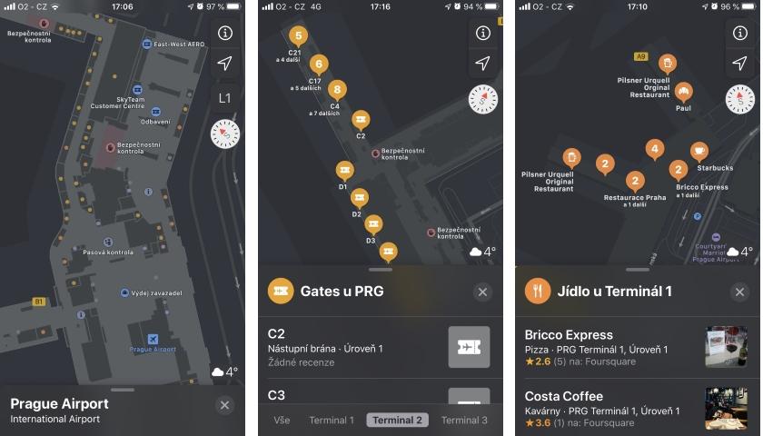 Letiště Praha Apple Maps
