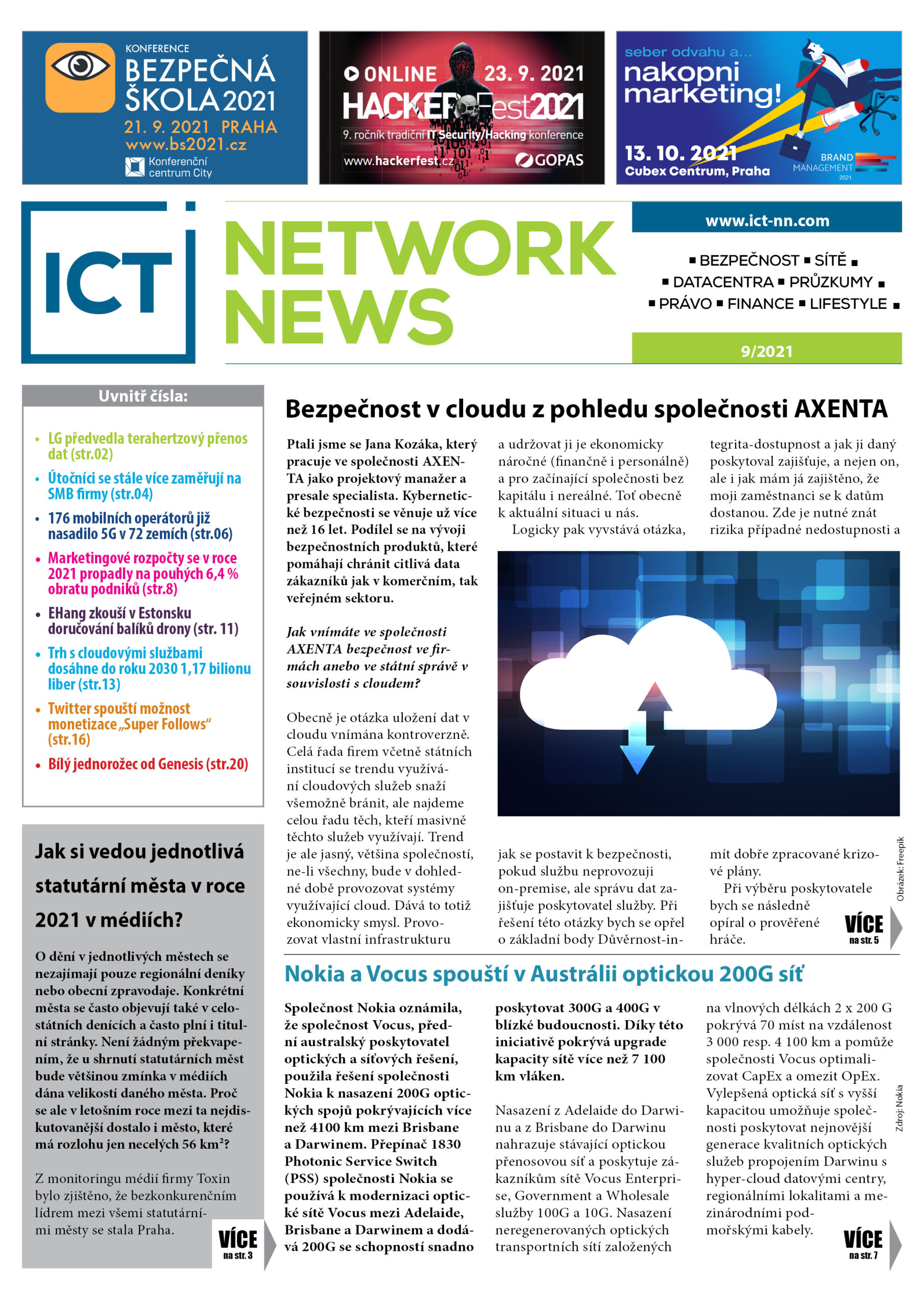 ICT NETWORK NEWS 9-2021 cover