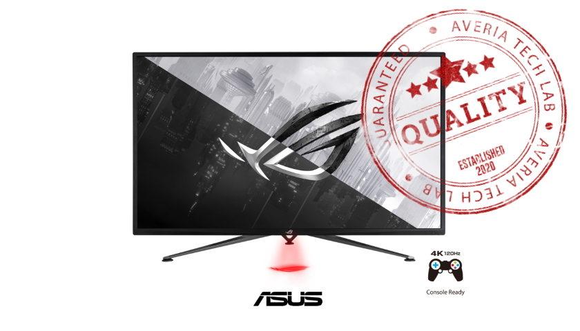 Herní monitor ASUS ROG Strix XG43UQ AVERIA TECHLAB 5 STAR